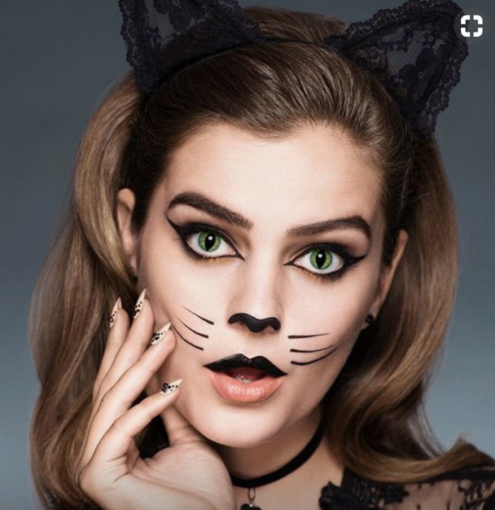 How To Make A Cat Face With Makeup For Halloween